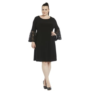 R&M Richards Black Lace Plus Size Cocktail Dress
