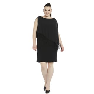 R&M Richards Women's Plus-size Short Caplet Dress