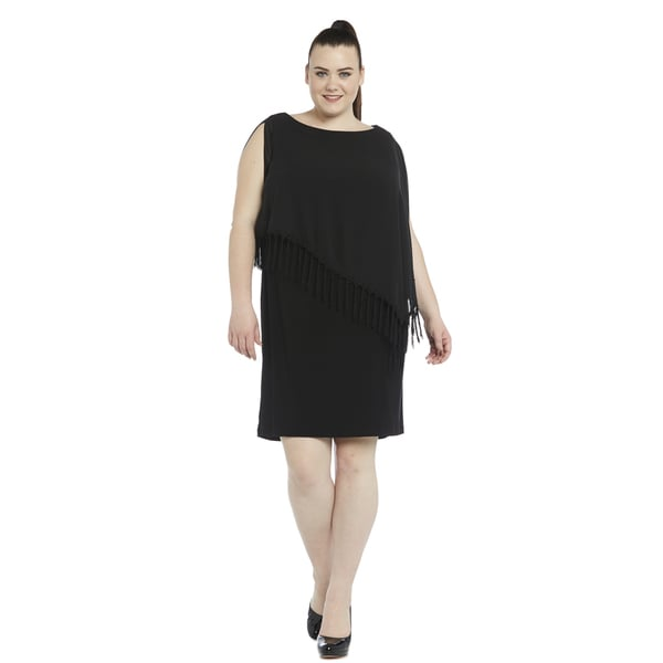 bb91c6d9 Shop R&M Richards Women's Plus-size Short Caplet Dress - Free Shipping  Today - Overstock - 11741754