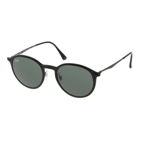 11ff353d1c9a2 Ray-Ban Round Light Ray RB4224 601S71 Unisex Black Frame Green Classic Lens  Sunglasses