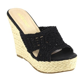 Olivia Miller Espadrille Wedge Sandals