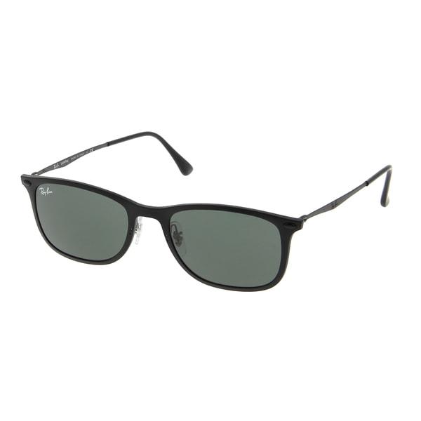 Ray-Ban New Wayfarer Light Ray RB4225 601S71 Unisex Black Frame Green Classic  Lens Sunglasses