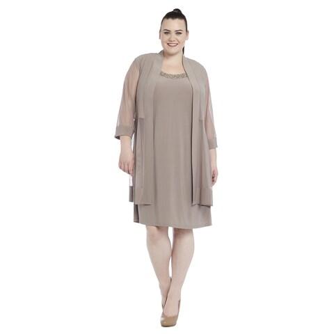 R&M Richards Women's Plus Size Jacket Dress