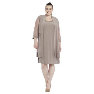 R&M Richards Women's Plus Size Jacket Dress