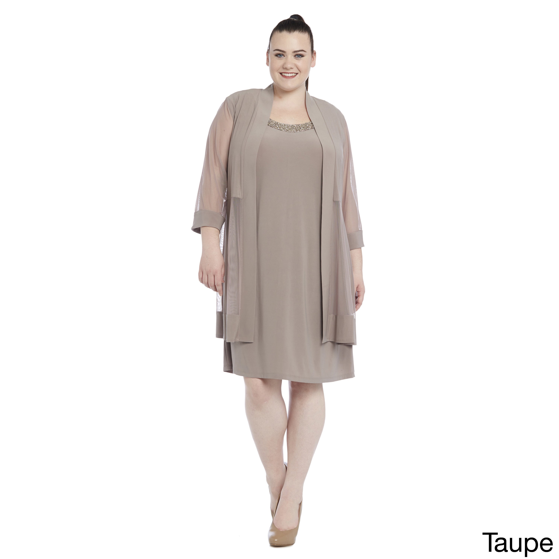 R&M Richards Women\'s Plus Size Jacket Dress