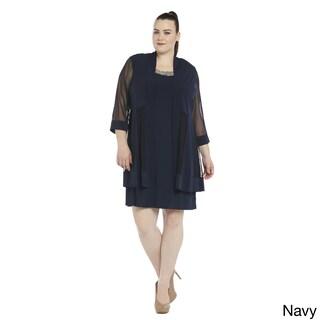 R&M Richards Women's Plus Size Jacket Dress (More options available)