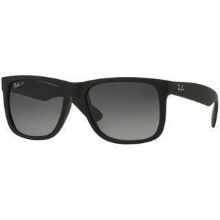 knock off ray ban sunglasses mens  ray ban rb4165 622/t3 justin classic black frame polarized grey gradient 55mm lens