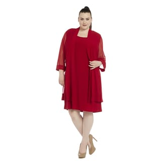 R&M Richards Women's Plus-size Jacket Dress