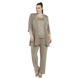 R&M Richards Plus Size Pant Set