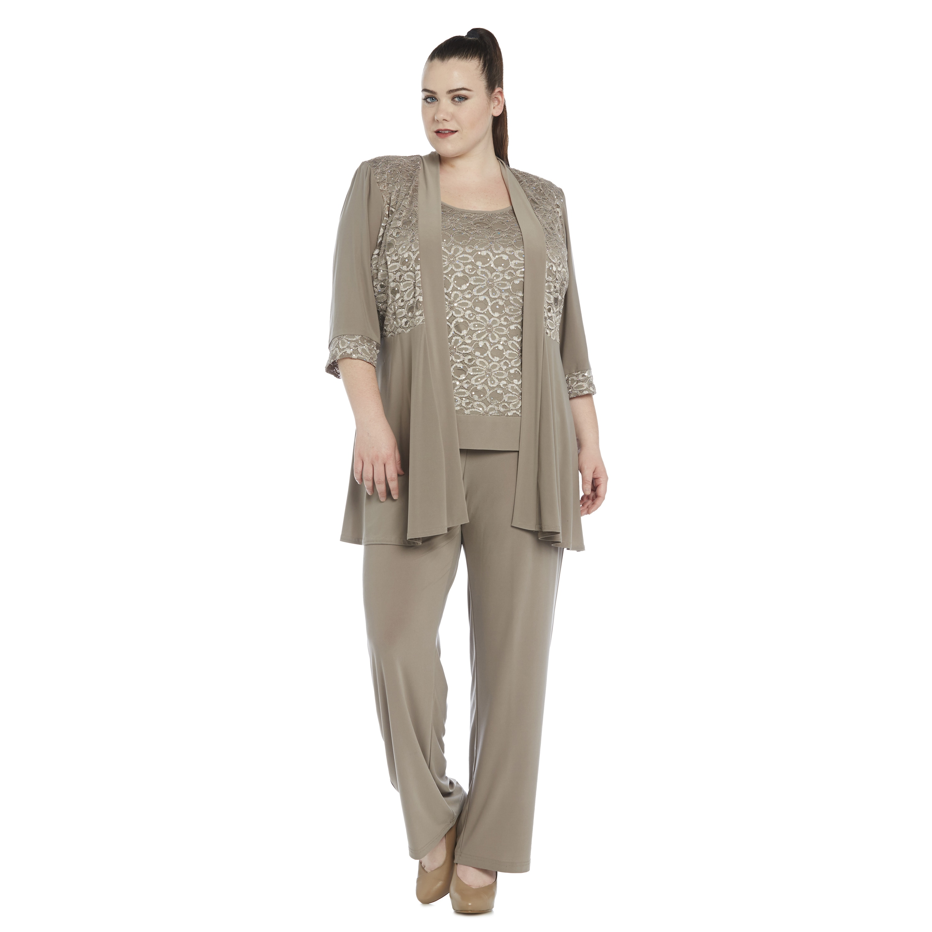 Asymmetrical Chiffon Pant Suits