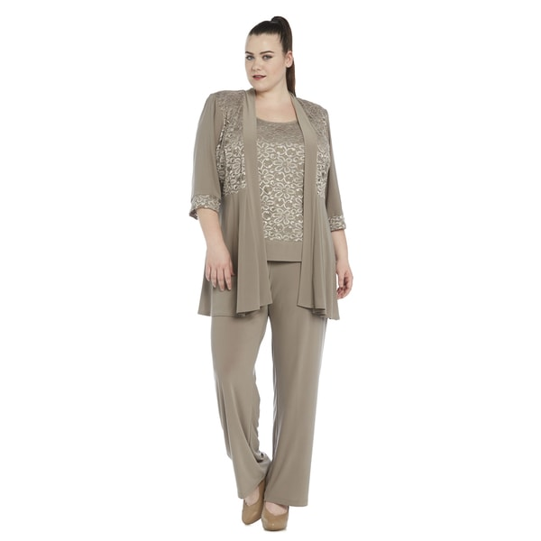 1cbba9cc1f0 Shop R M Richards Plus Size Pant Set - On Sale - Free Shipping Today -  Overstock - 11741800