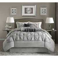 Madison Park Cynthia Grey King Size Comforter Set (As Is Item)