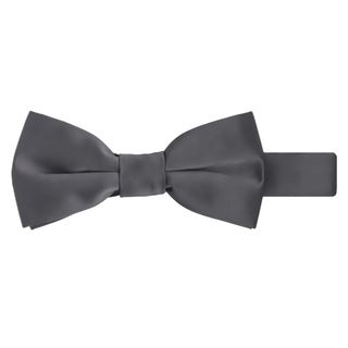Jacob Alexander Boys' Solid-Color Microfiber Pretied Banded Bow Tie