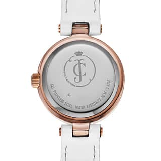 Juicy Couture Women's White Leather and Goldtone Japanese Quartz Watch|https://ak1.ostkcdn.com/images/products/11741830/P18659029.jpg?impolicy=medium