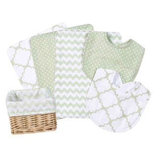 Trend Lab Sea Foam 7-piece Feeding Basket Gift Set