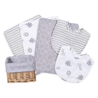Trend Lab Safari Gray 7-piece Feeding Basket Gift Set
