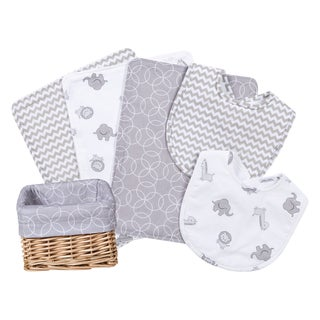 Trend Lab Safari Gray 7-piece Feeding Basket Gift Set