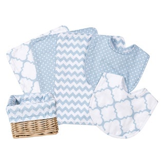 Trend Lab Blue Sky 7-piece Feeding Basket Gift Set