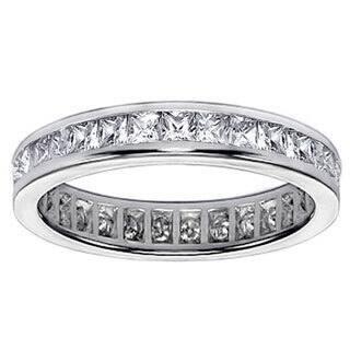 Platinum 2ct TDW Diamond Eternity Wedding Band
