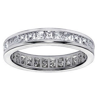 Platinum 2ct TDW Diamond Eternity Wedding Band