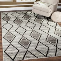 Safavieh Tunisia Grey/ Black Rug (8' x 10')