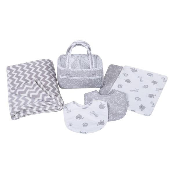 Trend Lab Safari Chevron 6-piece Baby Care Gift Set
