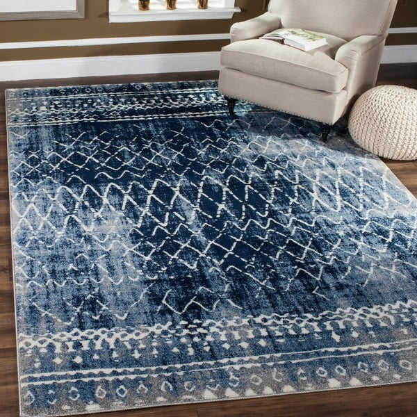 Safavieh Tunisia Light Blue Cream Rug 8 X27 X