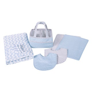 Trend Lab Blue Sky 6-piece Baby Care Gift Set