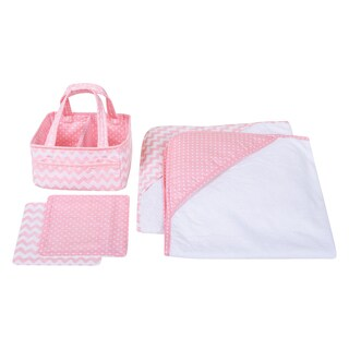 Trend Lab Pink Sky 5-piece Baby Bath Gift Set