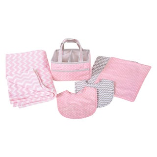Trend Lab Pink Sky 6-piece Baby Care Gift Set