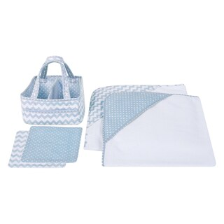 Trend Lab Blue Sky 5-piece Baby Bath Gift Set