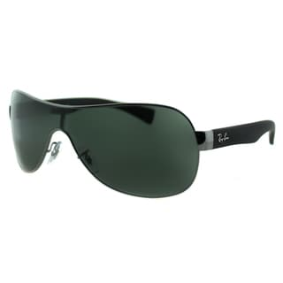 Ray Ban RB 3471 004/71 Matte Gunmetal Shield Green Lens Sunglasses
