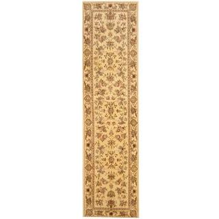 Herat Oriental Indo Hand-tufted Tabriz Wool and Silk Runner (2'5 x 10')