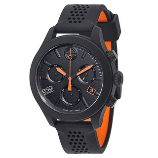 ESQ Movado Men's Black Rubber and Stainless Steel Chronograph Watch
