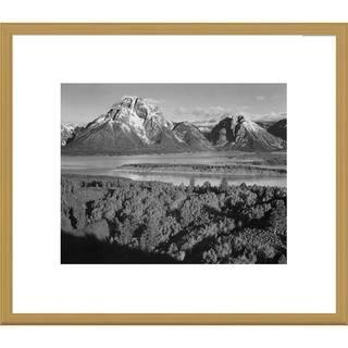 Global Gallery Ansel Adams 'View toward Mount Moran, Grand Teton National Park' Framed Art