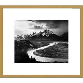 Global Gallery Ansel Adams 'The Tetons - Snake River, Grand Teton National Park, Wyoming' Framed Ar