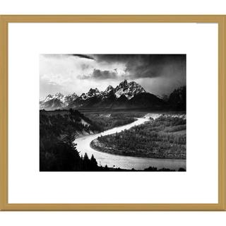Big Canvas Co., Ansel Adams 'The Tetons - Snake River, Grand Teton National Park, Wyoming' Framed Ar
