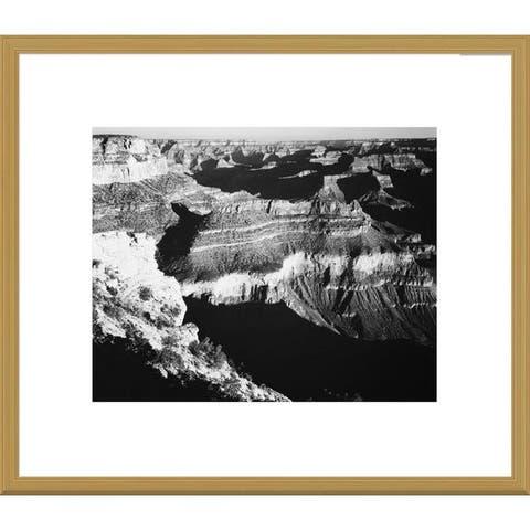 Global Gallery Ansel Adams 'Grand Canyon National Park, Arizona, 1941' Framed Art