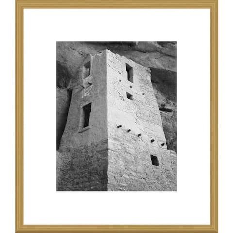 Global Gallery Ansel Adams 'View of tower, taken from above, Cliff Palace, Mesa Verde National Park