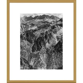 Big Canvas Co., Ansel Adams 'North Palisades from Windy Point, Kings River Canyon, California' Frame