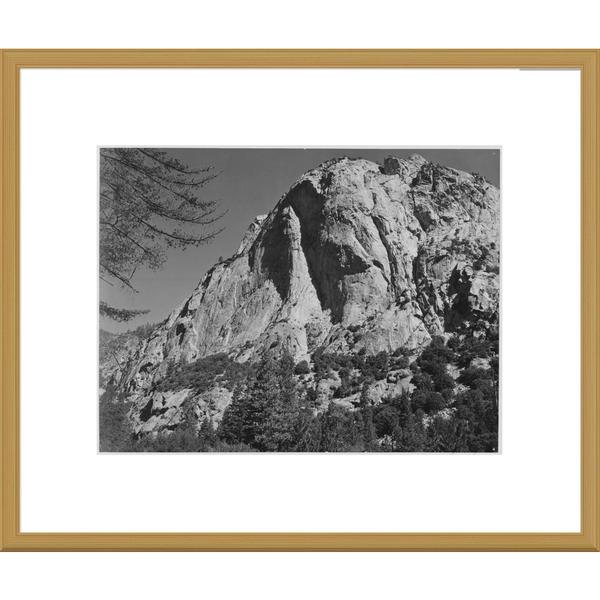 Global Gallery Ansel Adams 'North Dome, Kings River Canyon, proposed as a national park, California