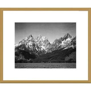 Big Canvas Co., Ansel Adams 'Grassy valley and snow covered peaks, Grand Teton National Park' Framed