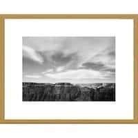 Global Gallery Ansel Adams 'Canyon edge, low horizon, clouded sky, Grand Canyon National Park, Ariz