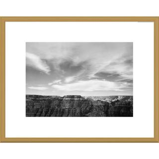 Global Gallery Ansel Adams 'Canyon edge, low horizon, clouded sky, Grand Canyon National Park, Ariz