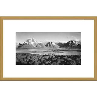 Global Gallery Ansel Adams 'Mt. Moran and Jackson Lake from Signal Hill, Grand Teton National Park'