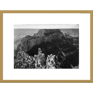 Global Gallery Ansel Adams 'Close-in view of curred cliff, Grand Canyon National Park, Arizona, 194