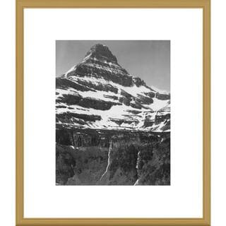 Big Canvas Co., Ansel Adams 'Snow Covered Mountain Glacier National Park, Montana' Framed Art