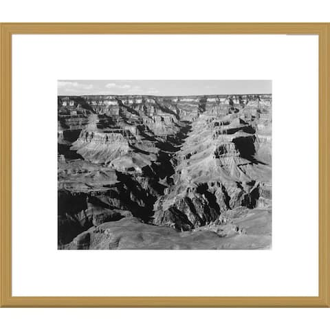 Global Gallery Ansel Adams 'Grand Canyon from South Rim' Framed Art