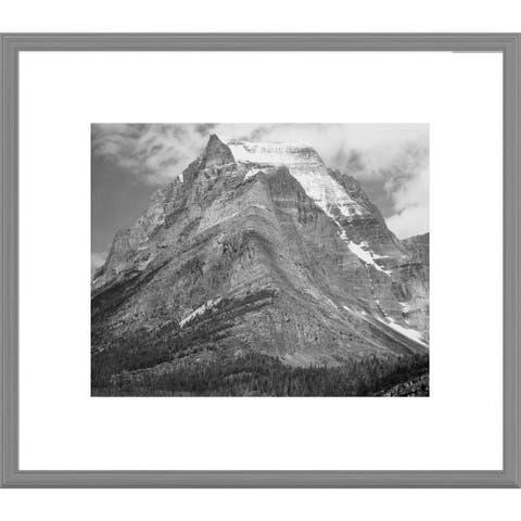 Global Gallery Ansel Adams 'Going-to-the-Sun Mountain, Glacier National Park, Montana ' Framed Art