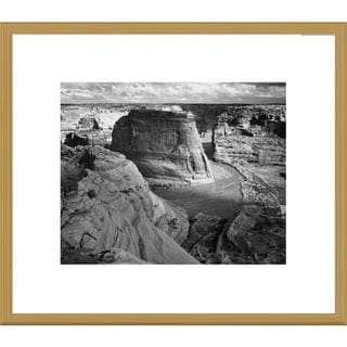 Global Gallery Ansel Adams 'View of valley from mountain, Canyon de Chelly, Arizona' Framed Art